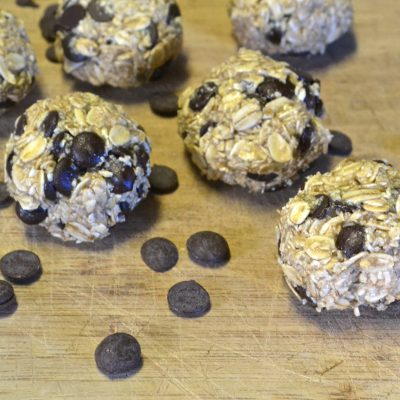 Raw Chocolate Chip Cookies