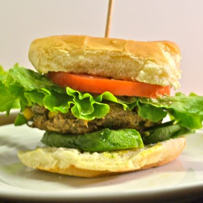 Veggie Burger with a Kick