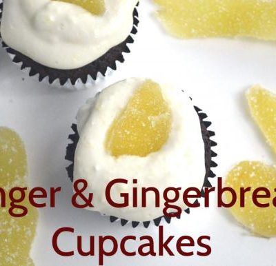 Gingery Gingerbread Cupcakes