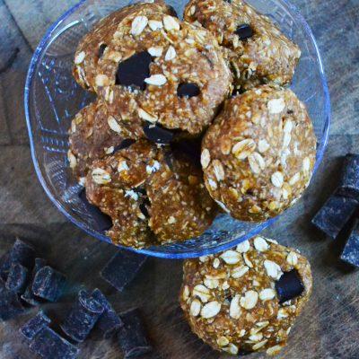 No Bake Peanut Butter & CC Cookies