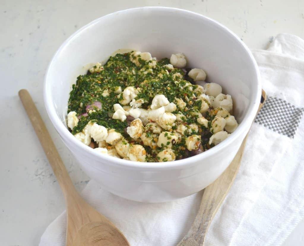 mozzarella bean salad 1