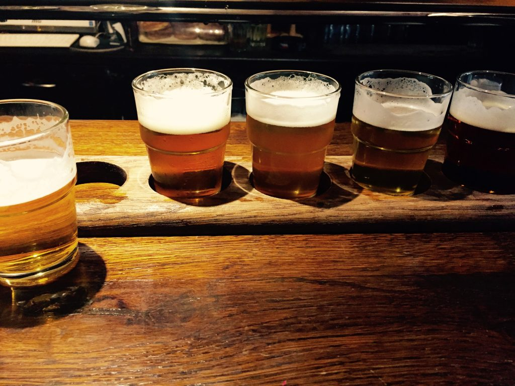 { flight at the prague beer museum }