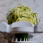 zucchini pasta with walnut kale pesto