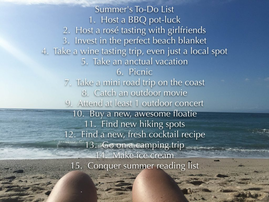 summer fun to-do