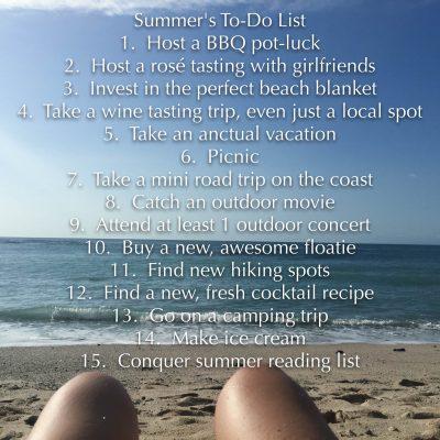 Summer Fun To-Do List
